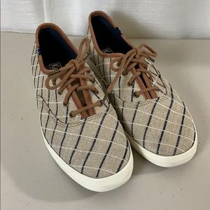 Keds Canvas And Leather Trim Shoes